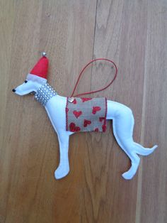 Whippet Christmas Ornaments