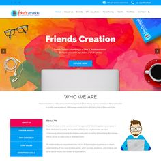 "Web Design Solution of Advertising Agency ""Friends Creation"" at Patna Bihar #WebSolution #WebsiteSolutions #Solutions #WebDesign #Design #WebsiteDesign #Website #WebsiteDevelopment #WebDevelopment #Web #Website #Design #BrandDesign"