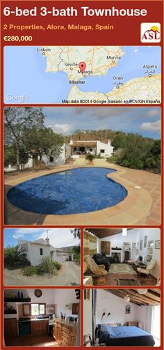 Townhouse for Sale in 2 Properties, Alora, Malaga, Spain with 6 bedrooms, 3 bathrooms - A Spanish Life Murcia, Malaga Spain, Cool Countries, Seville, Townhouse, Terrace, Restoration, Landscape, The Originals