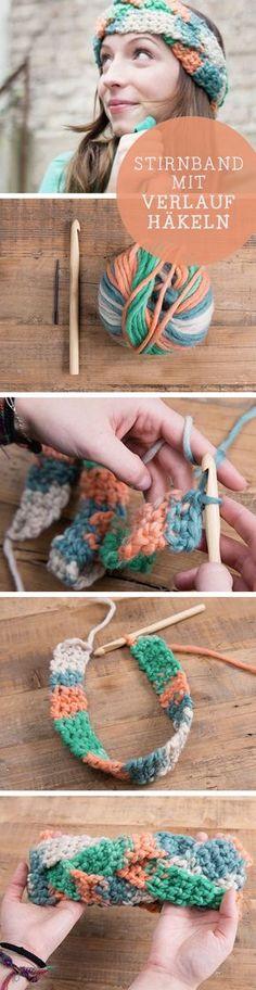 DIY-Anleitung: Stricke Dein eigenes Stirnband mit Farbverlauf / diy tutorial for a knitted headband, ombre via DaWanda.com