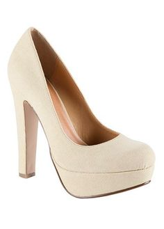 Call it spring natural platform court shoes