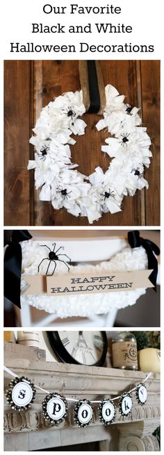 Our Favorite Black and White Halloween Decorations >> http://www.diynetwork.com/decorating/how-to-make-black-and-white-halloween-decorations/pictures/index.html?soc=pinterest