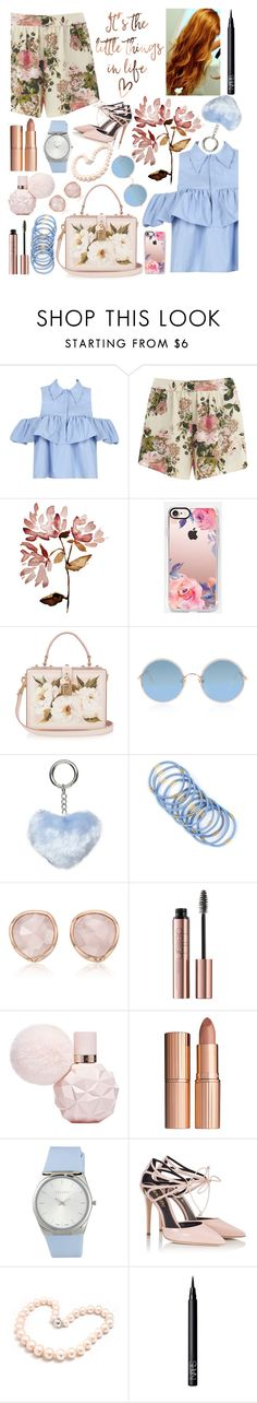 """""""Everything I Know"""" by superswimmerca ❤ liked on Polyvore featuring WithChic, VILA, Casetify, Dolce&Gabbana, Sunday Somewhere, Dorothy Perkins, Monica Vinader, Charlotte Tilbury, ESCADA and Fratelli Karida"""