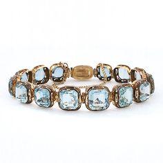 berengia:  Antique Victorian Aquamarine and Gold Bracelet