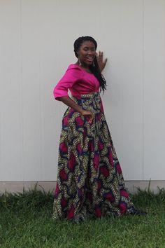 Beautiful Pink /Blue /Green and Cream Long Dress by u4uDesigns ~African fashion, Ankara, kitenge, African women dresses, African prints, African men's fashion, Nigerian style, Ghanaian fashion ~DKK