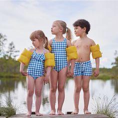 Oeuf OeufNYC SS16 Spring  Swimwear Bear Kids Halter Bathing Suit Kidswear Kids baby clothes clothing girls boys swimwear fashion