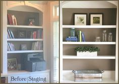 Home Staging tricks you should know if you are a real estate professional or are looking to sell your own home. The Decorologist tells you how. Sell Your Own Home, Large Sectional Sofa, Real Estate Staging, Long Sofa, Bookcase Styling, Home Selling Tips, Empty Room, Two Bedroom, Home Staging