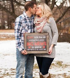 Are you looking for an adorable way to announce your pregnancy? This printable photo prop will allow you to let everyone know that baby is on