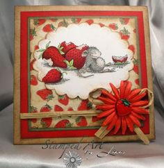 house mouse card ideas | Summer Strawberries