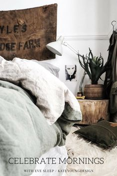 Celebrate your mornings with Eve Sleep! Stonewashed linen is a staple in any bedroom so have a look at these beautiful options! There's a giveaway where you could win your own too! #bedroom #bedding #linen #sleep #lovemorningswitheve #morning