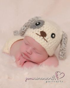 Newborn Puppy Hat  and Diaper Cover Set  by PreciousMomentsProps, $40.00