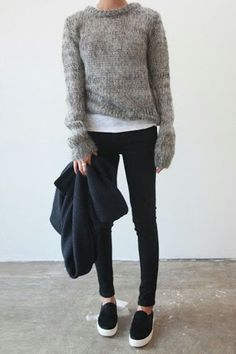 grey sweaters forever