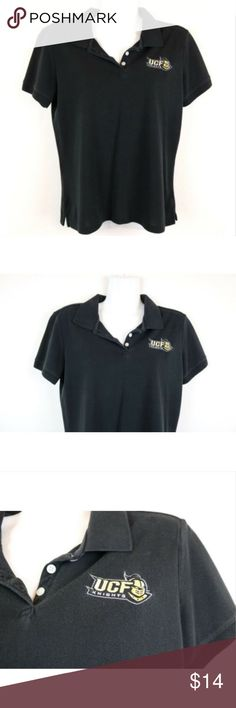 cbce190d Club Colors UCF University of Central Florida Polo Club Colors Womens Polo  Shirt Black UCF University