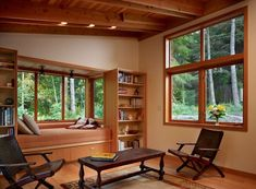 The best place for a window reading nook is the room with the best views. This residence, for example, seems to be surrounded by tall trees and lush vegetation, making this particular part of the house the perfect location. - Enjoy Your Favorite Book In style – 15 Window Alcove Reading Nooks
