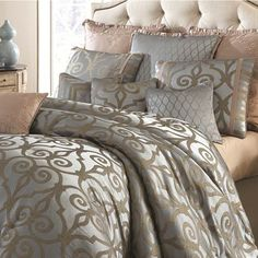 Michael Amini Plaza Suite Bedding By Michael Amini Bedding, Comforters, Comforter Sets, Duvets, Bedspreads, Quilts, Sheets, Pillows