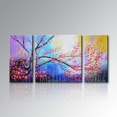 Framed! Hand-painted Modern Canvas Wall Asian Decor Art Abstract Oil Painting  picclick.com