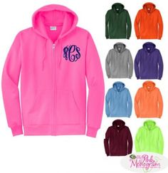 The Pink Monogram Full Zip Hooded Sweatshirt Jacket #Review #ChristmasSK15