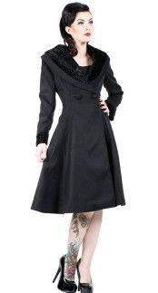 Hell Bunny Vivien Coat in Black