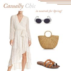 Spring Outfit Ideas, Summer Outfit Ideas, How To Wear Neutrals in Spring / Summer, Tan Sandals, Tan Slides, Summer Vacation Outfit Ideas