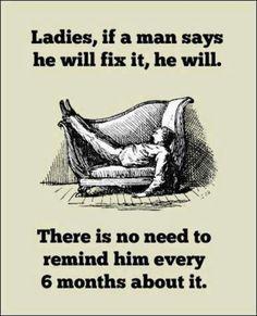 If a husband says he will fix it... #newlywedsurvival