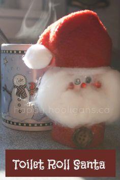 toilet roll Santa - happy hooligans