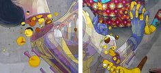 Os Gemeos teams-up with Aryz for mural in Poland