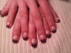 Purple glitter with black lines using Amore Ultima Gels