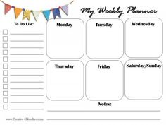 Luxury 34 Sample Free Calendar Daily Planner Printable free daily planner printable 7 pretty sheets shining mom since i like to start my day listing down the… Weekly Plan Template, Weekly Calendar Template, Weekly Planner Printable, Free Calendar, Planner Template, Kids Planner, Lesson Planner, School Planner, Planner Pages