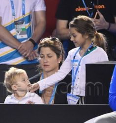Mirka and two of her kids