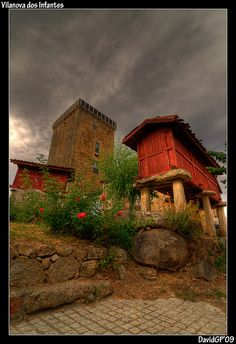 Vilanova dos Infantes Galicia Aragon, Beautiful World, Beautiful Places, Celtic Nations, Vernacular Architecture, Colourful Buildings, Spain And Portugal, Spain Travel, The Good Place