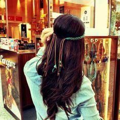Bom dia cheio de novidades! Inclusive essa headband ❤️ #nangara #headband #turquoise #gypsy #boho #bohochic #handmade
