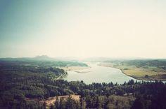 Bluff over lake