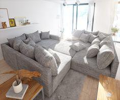 Hervorragend Sofa Clovis Erweiterbares Modulsofa Eckcouch Wohnlandschaft (Sofa XL Mit  Hocker + Armlehne, Grau): Amazon.de: Küche U0026 Haushalt