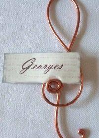 Décoration - Décoration de table - Marque places thème Musique - Touslesmariages.com