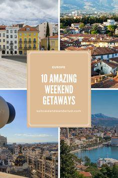 10 cool weekend getaways in Europe. Perfect for spring.