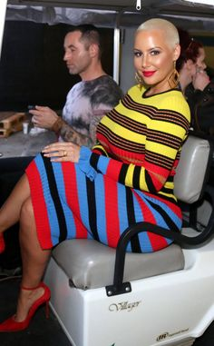 Amber Rose from The Big Picture: Today's Hot Photos Rose's rainbow! The socialite is seen looking vibrant in Los Angeles. Thick Girl Fashion, Curvy Women Fashion, Amber Rose Style, Bald Head Women, Black Chyna, Female Actresses, Female Celebrities, Celebs, Plus Sise