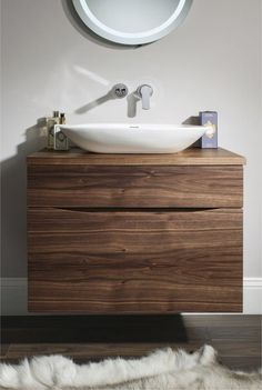 Glide II American Walnut | Bauhaus Bathrooms - Furniture, Suites, Basins - Ultimate Bathroom Solutions