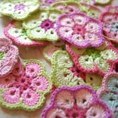 Get the crochet pattern to make this beautiful African Flower. Join these hexagon shape flowers to make it into bigger projects.