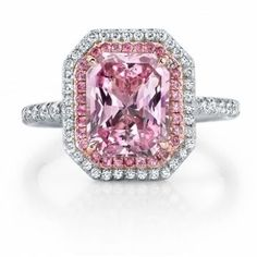 Omi Prive by Omi Gems: Pink Sapphire and Diamond Ring, an ...