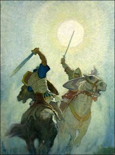 N. C. Wyeth   Legends of Charlemagne by Thomas Bulfinch   Published by Cosmopolitan Book Corp ~ 1924