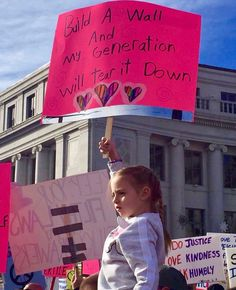 Build a Wall and My Generation Will Tear it Down Refugees, Protest Signs, Protest Art, Political Signs, Protest Posters, My Generation, Power To The People, Equal Rights, Faith In Humanity