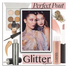 """""""So Sparkly: Glitter Lips - NewChic"""" by dora04 ❤ liked on Polyvore featuring beauty, MAC Cosmetics, Burberry, glitterlips and newchic"""