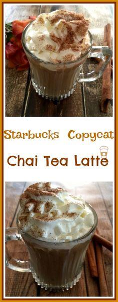 Copycat Starbucks Chai Tea Latte - Pams Each day Dish Chi Tea Latte Recipe, Chia Tea Recipe, Chai Tea Syrup Recipe, Tea Recipes, Coffee Recipes, Copycat Recipes, Drink Recipes, Cooking Recipes, Iced Chai Tea Latte