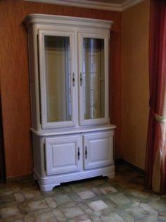 Comment moderniser des meubles Louis-Philippe en merisier ? Relooking avant-après à St Léonard 76 et Magnanville 78.
