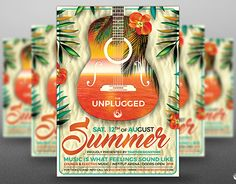 """Check out new work on my @Behance portfolio: """"Summer Unplugged Flyer Template V2"""" http://be.net/gallery/38794841/Summer-Unplugged-Flyer-Template-V2"""