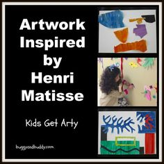 A very thorough post on Matisse for kids with a Matisse inspired art project for kids. Includes a virtual visit to an art museum to view Matisse's work. From Buggy and Buddy.