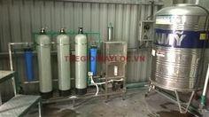 Hệ thống lọc nước uống cho khu văn phòng công suất 250l/h.