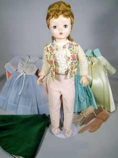 Vintage Madame Alexander 1950's Cissy Doll with Tagged Dress + Wardrobe