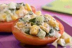 Stuffed Tomato Tops Recipe