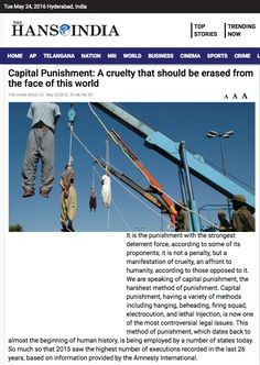 Capital Punishment: A cruelty that should be erased from the face of this world World Watch, Creepy, Crime, Death, Cinema, Articles, Face, Politics, Movie Theater